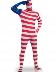 Kroppsstrumpa USA:s flagga för vuxna