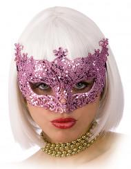 Venetiansk mask rosa
