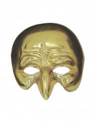 Guldfärgad mask med krokig näsa