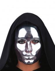 Silverfärgad mask vuxen
