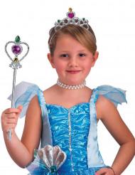 Silverfärgad spira och tiara barn
