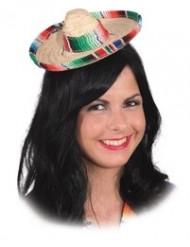 Färgglad mini-sombrero dam