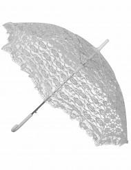 Vitt spetsparaply till maskeraden