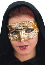 Venetiansk mask gul