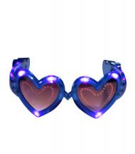 Blåa hjärtformade LED glasögon