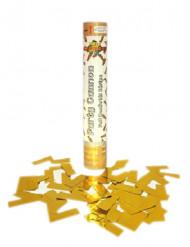 Guldig konfettikanon