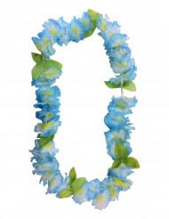 Blått hawaiihalsband