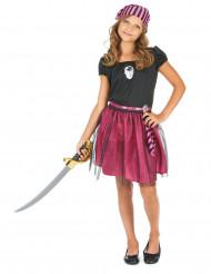 Rosa piratdräkt för barn till maskeraden