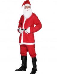 Jultomtedräkt med skägg för vuxna - Maskerdkläder till julafton