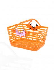 Orange korg för Halloweengodis