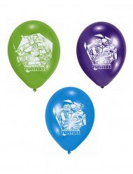 Set av 6 latex ballonger Ninja Turtles ™