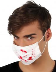 Vit Halloween mask med blodfläckar