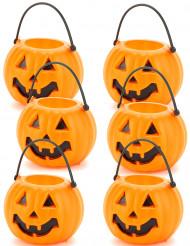 Godishink i form av pumpa - 6 små Halloweentillbehör