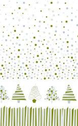 Pappersdul på rulle med julgranar