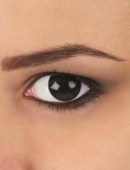 Helsvarta linser för vuxna - Halloweensminkning
