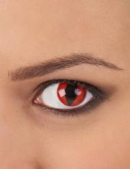 Röda reptillinser för vuxna - Halloweensminkning
