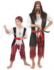 Stor och liten Pirat - Parkostym Vuxen & Barn