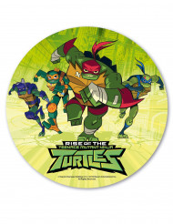Rise of the Teenage Mutant Ninja Turtles™ tårtlock av stärkelse 20 cm