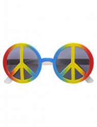 Hippie mångfärgade glasögon vuxen