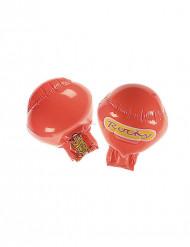 Uppblåsbara röda boxningshandskar