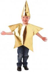 Gyllene Stjärndräkt för barn till jul
