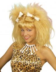 Blond grottmänniska - Peruk för vuxna