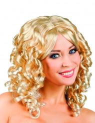 Blond lockig peruk