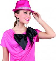 Rosa paljett hatt