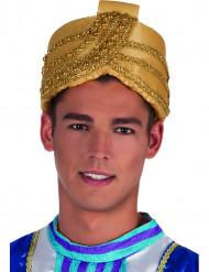 Guldfärgad sultanturban vuxen