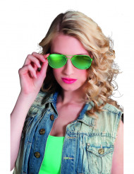 Gröna polis glasögon