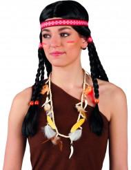 Pärlor och fjädrar - Indianhalsband till temafesten
