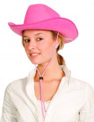 Rosa cowboyhatt vuxna