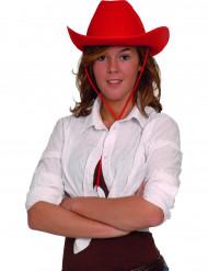 Röd cowboyhatt vuxna