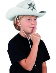 Vit sheriffhatt barn