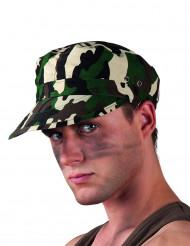 Kamouflagefärgad militärmössa vuxna
