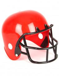 Röd hjälm för amerikansk fotbollsspelare barn