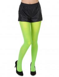 Neongröna strumpbyxor för vuxna