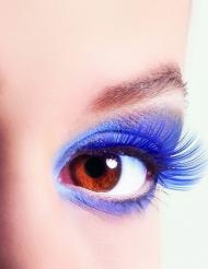 Korta blå lösögonfransar vuxna