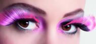 XL lösögonfransar i rosa och svart vuxna