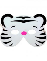 Vit tigermask för barn