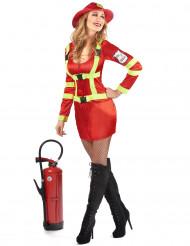 Flamman - Brandmansdräkt för vuxna