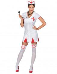 Sjuksköterskedräkt för vuxna till maskeraden
