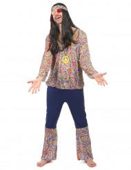 Färggrann hippie - utklädnad vuxen