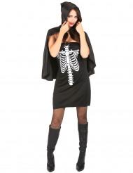 Skelettdräkt för vuxna till Halloween
