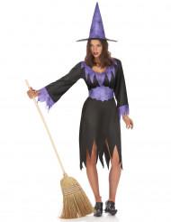 Häxkostym för vuxna till Halloween