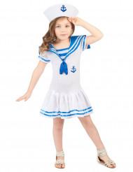 Sjömansklänning i blått och vitt - Maskeradkläder för barn