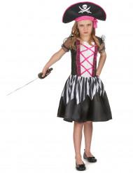 Sjörövarklänning med rosa detaljer - Piratdräkt för barn