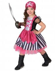 Rosa piratdräkt barn