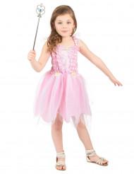 Rosa prinsessfedräkt för barn till kalaset