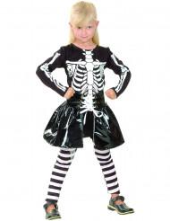 Skelettdräkt med tuff kjol - Maskeradkläder för barn